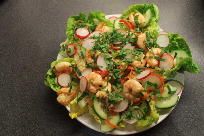 Cake + Whisky | Bahn-Mi inspired Vietnamese Prawn Salad