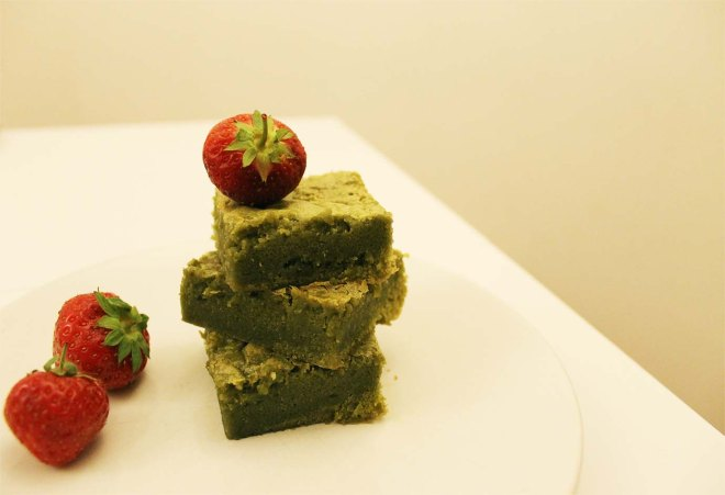 Matcha Blondies Recipe | Cake + Whisky