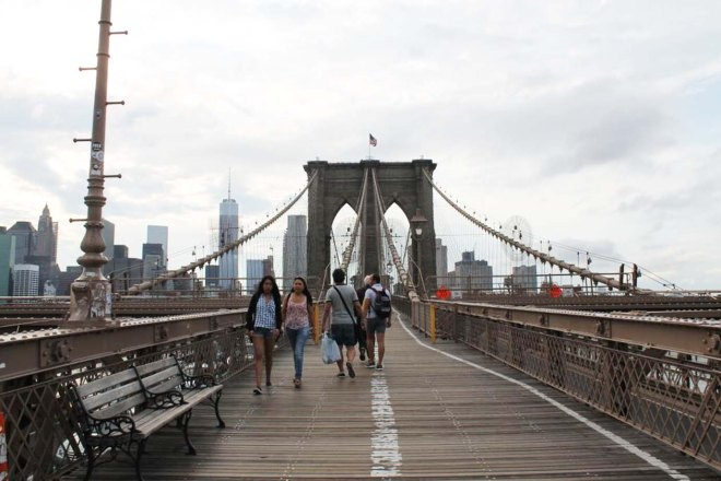 NYC City Guide | Crossing the Brooklyn Bridge | Cake + Whisky