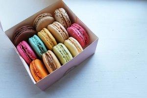 #YelpBigNightIn | Ladurée macaroons via Quiqup | Cake + Whisky
