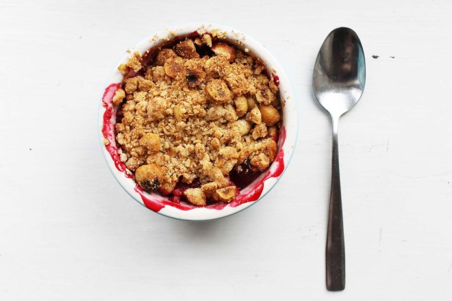 Plum & Hazelnut Crumble | Cake + Whisky