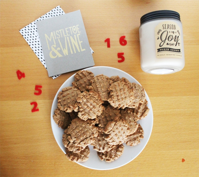 12 Biscuits of Christmas | Rustic Peanut Butter Cookies