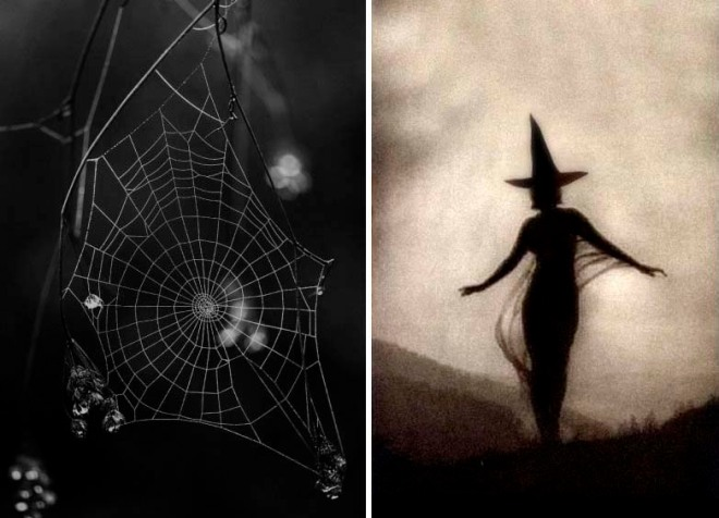 Halloween Inspiration | Spider web + witch
