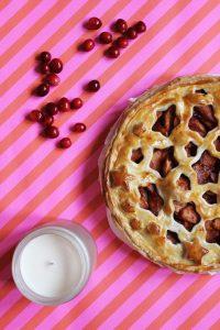 Festive Apple & Cranberry Pie   Cake + Whisky