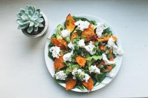 Lunch-spiration: Tabasco-roasted squash + mozzarella salad | Cake + Whisky