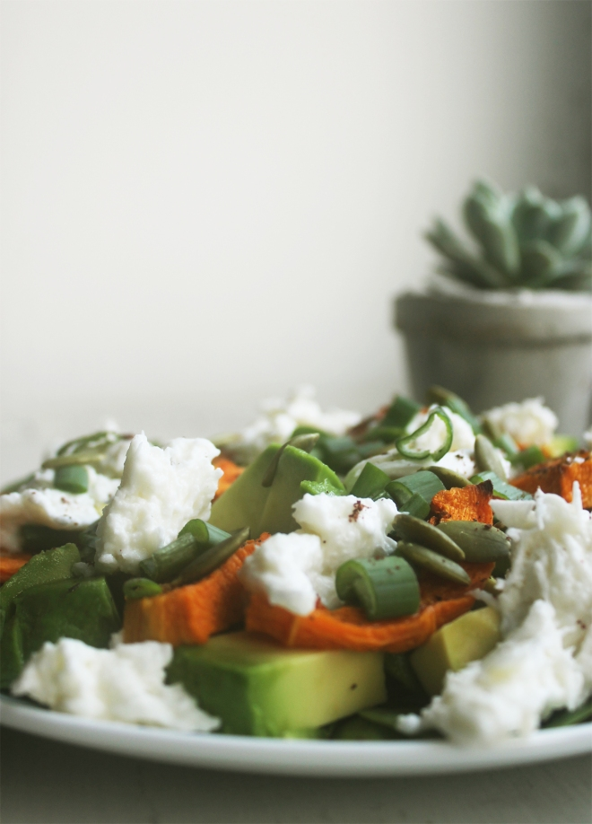Lunch-spiration: Tabasco-roasted squash + mozzarella salad | Cake + Whisky