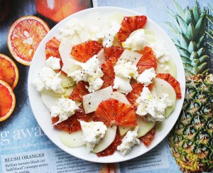 Kohlrabi, blood orange & mozzarella salad | Cake + Whisky