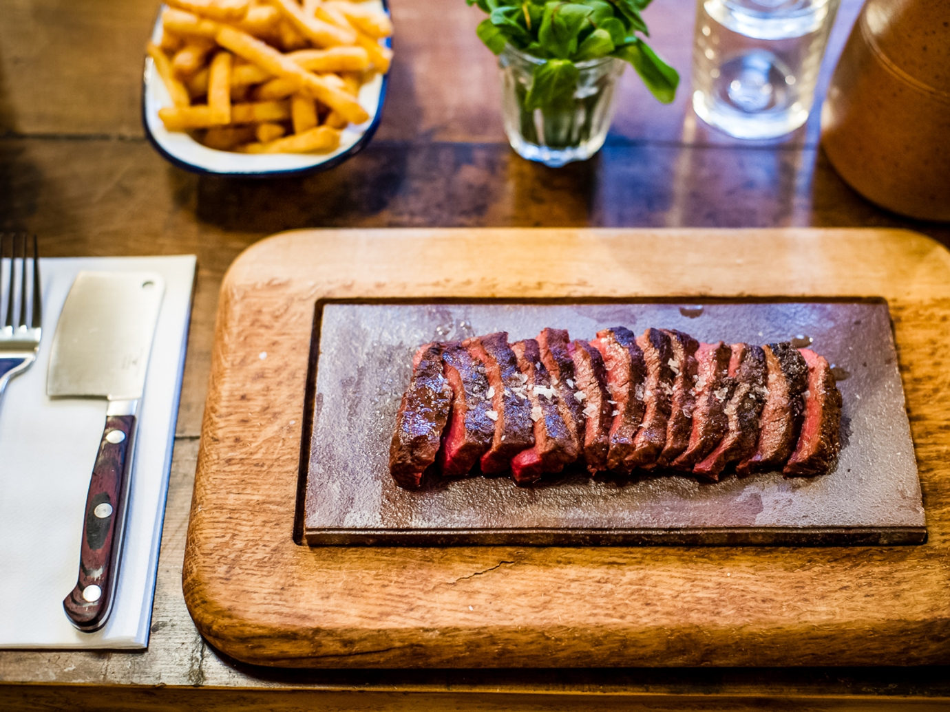 Flat Iron | Best London restaurants for Father's Day | Cake + Whisky