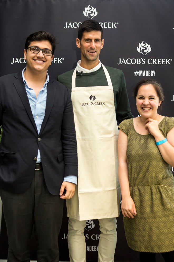 Meeting Novak Djokovic with Jacob's Creek Table | Cake + Whisky