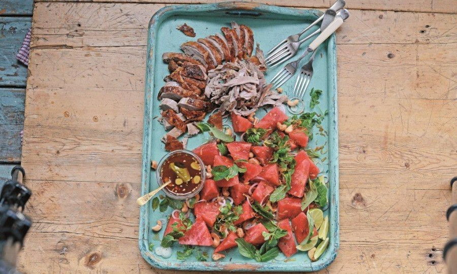 Gizzi Erskine's Watermelon and hoisin salad