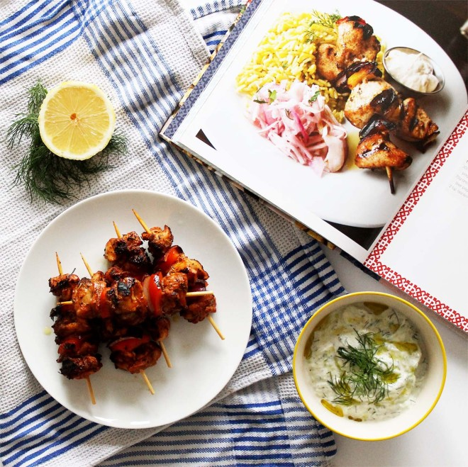 Greek Chicken Skewers from The Real Greek Cookbook | Cake + Whisky