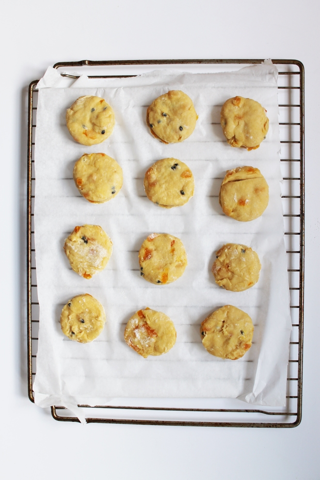 Apricot and passionfruit scones 11
