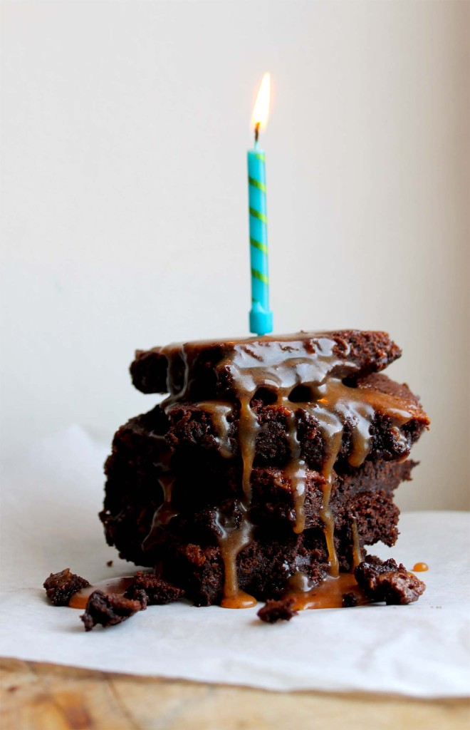 Salted Caramel Brownies | Cake + Whisky