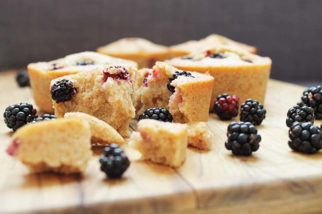 Blackberry Friands | Cake + Whisky