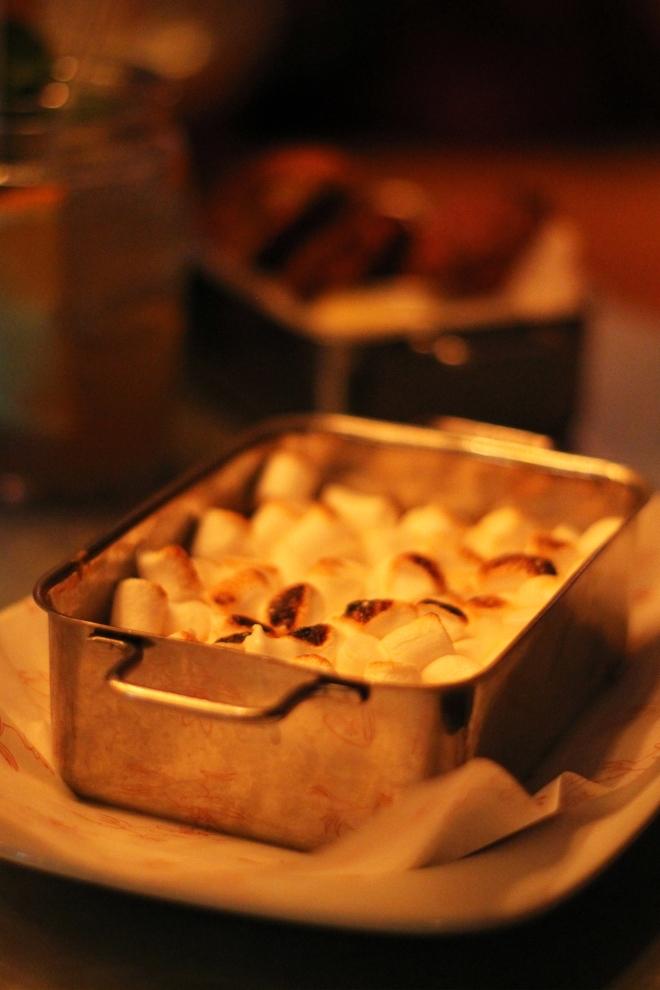 Sweet potato bake at Absurd Bird, Soho