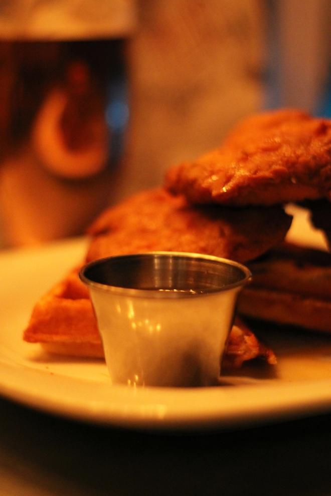 Chicken &Waffle at Absurd Bird, Soho