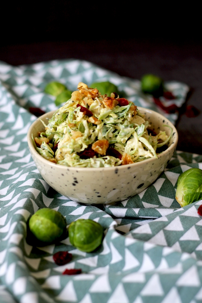 Festive Brussel sprout slaw | Cake + Whisky