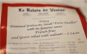 Le Relais de Venise L'Entrecote review   Cake + Whisky