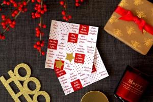 Christmas Bingo cards | Cake + Whisky