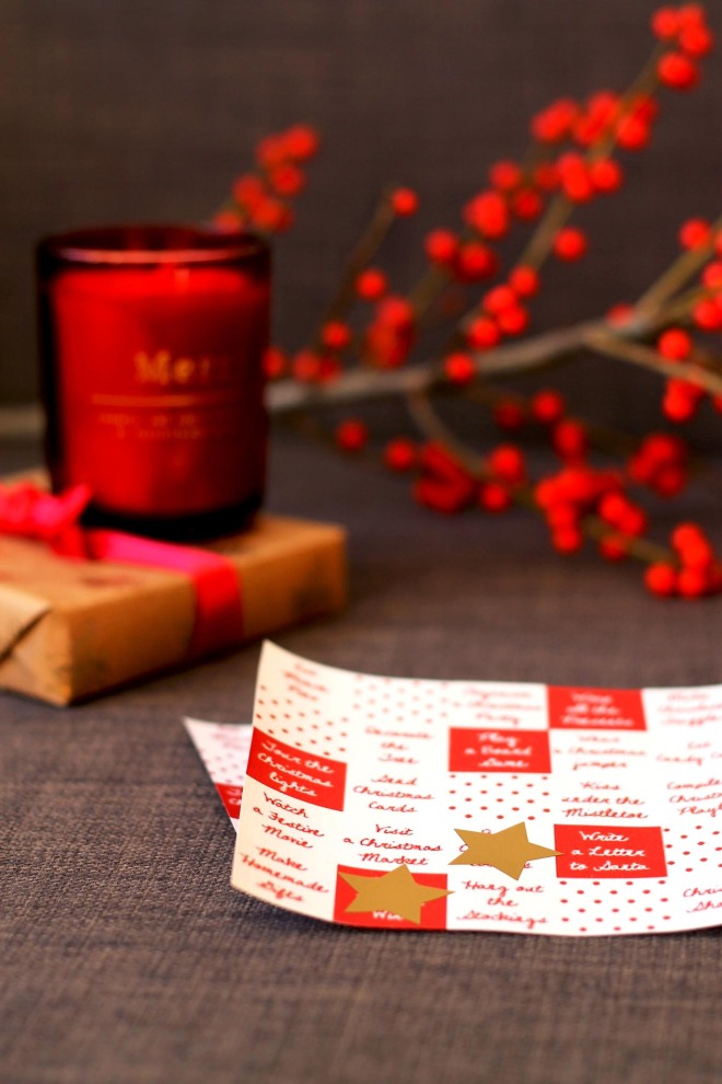 Christmas Bingo cards | Cake + Whisky