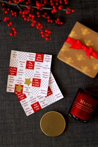 Christmas Bingo cards   Cake + Whisky