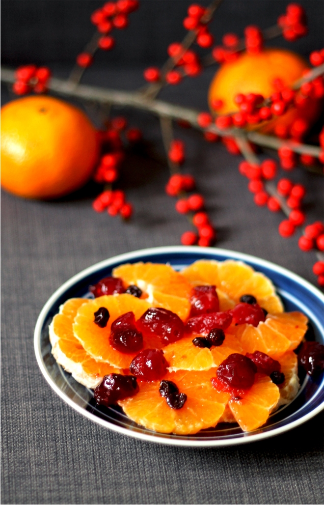 Christmas orange salad with spiced cranberries | Cake + Whisky