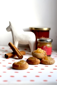 Cinnamon & ginger thumbprint cookies | Cake + Whisky