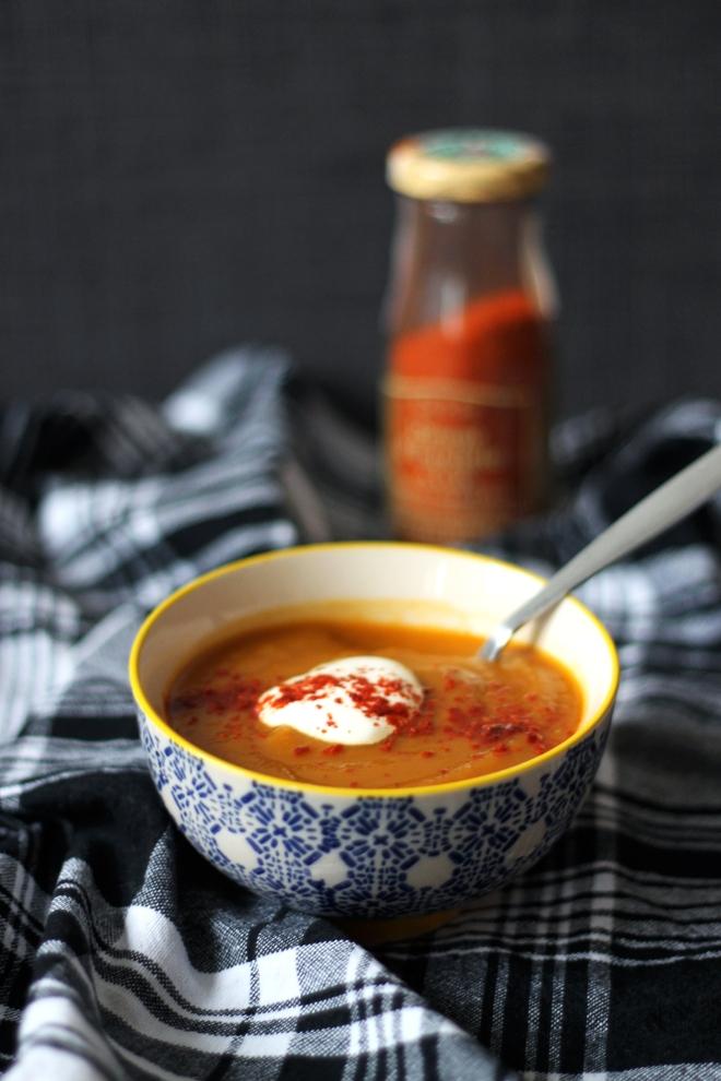 Harissa Carrot Soup recipe | Cake + Whisky