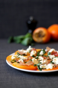 Persimmon salad with prosciutto & mozzarella | Cake + Whisky