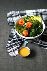 Kale & rice salad with avocado & salmon | Cake + Whisky