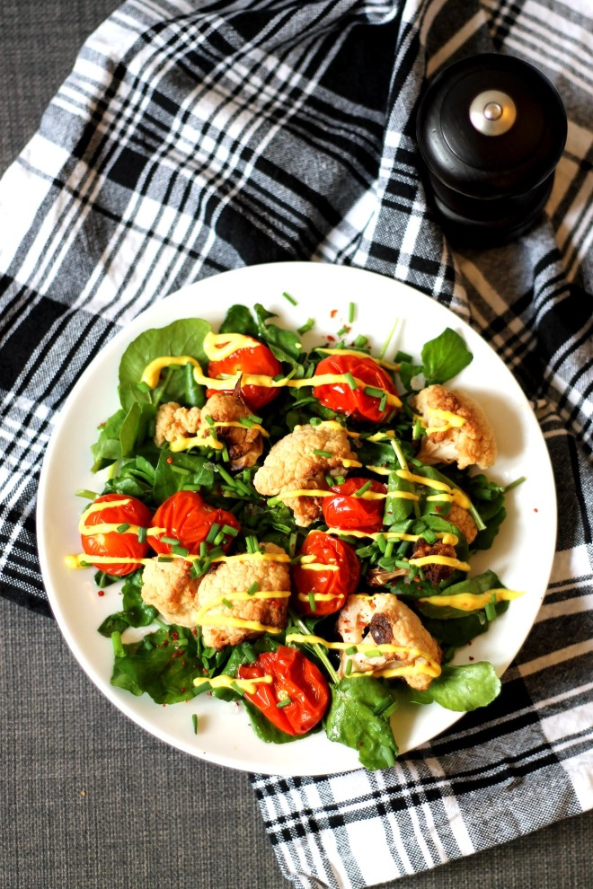 Spring curried cauliflower salad recipe || Cake + Whisky