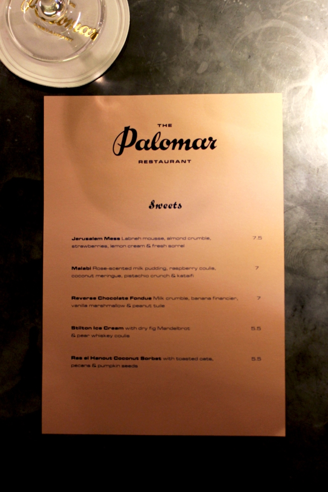 The Palomar ● London restaurant review ● Cake + Whisky