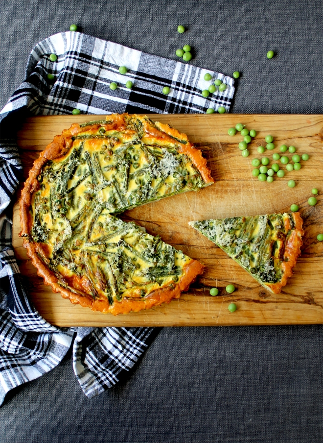 Spring Vegetable Quiche (V) ● Cake + Whisky