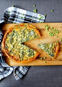 Spring Vegetable Quiche (V) ● Cake + Whisky