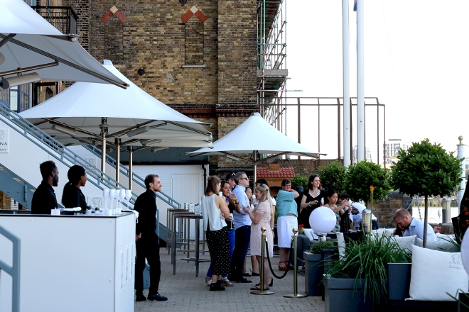 Tapas on the Thames • Anna de Codorníu Terrace on the Thames, London • Cake + Whisky