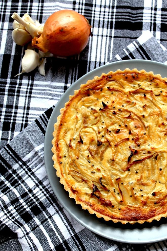 Mustard & Onion Quiche (V) • Recipe • Cake + Whisky