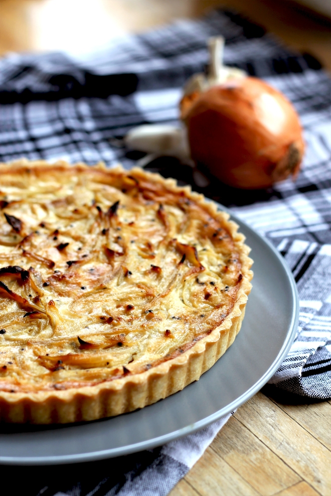 Mustard & Onion Quiche (V) • Recipe • Cake + Whisky