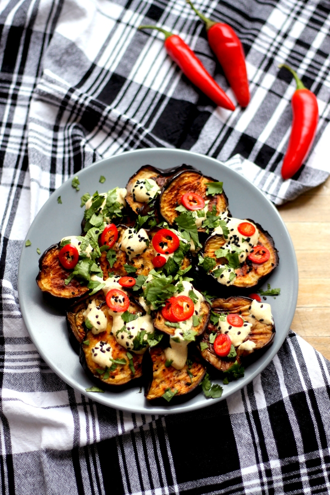 Aubergine salad (V, GF) • Recipe • Cake + Whisky