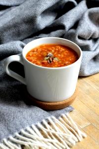 Indian Spiced Lentil Soup (Vegan) • Recipe • Cake + Whisky
